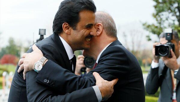 Türkiye-Katar Yüksek Stratejik Komite 4. Toplantısı, Cumhurbaşkanı Erdoğan ve Katar Emiri Şeyh Temim bin Hamed Al Sani'nin katılımıyla Vahdettin Köşkü'nde gerçekleşti. - Sputnik Türkiye