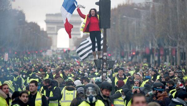 Paris protestoları - Sputnik Türkiye