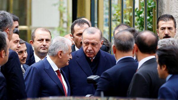 Recep Tayyip Erdoğan - Binali Yıldırım - Sputnik Türkiye