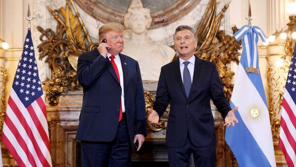 ABD Başkanı Donald Trump-Arjantin Devlet Başkanı Mauricio Macri - Sputnik Türkiye