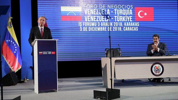 Cumhurbaşkanı Recep Tayyip Erdoğan-Venezüella Devlet Başkanı Nicolas Maduro - Sputnik Türkiye