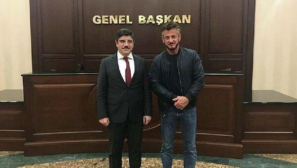 Oyuncu Sean Penn ve AK Parti Genel Başkan Danışmanı Yasin Aktay - Sputnik Türkiye