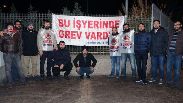 İZBAN grev - Sputnik Türkiye