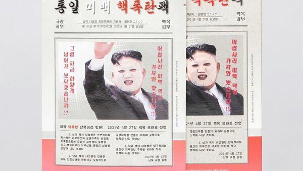 Güney Koreli kozmetik firması 5149 tarafından piyasaya sürülen 'Kim Jong-un güzellik maskesi' - Sputnik Türkiye