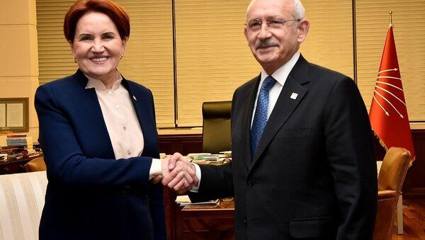 İYİ Parti Genel Başkanı Meral Akşener-CHP Genel Başkanı Kemal Kılıçdaroğlu - Sputnik Türkiye