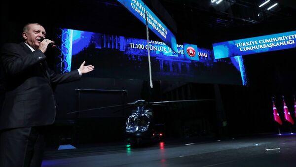 Türkiye Cumhurbaşkanı Recep Tayyip Erdoğan, Beştepe Millet Kongre ve Kültür Merkezi'nde gerçekleştirilen İkinci 100 Günlük Eylem Planı Tanıtım Toplantısına katılarak konuşma yaptı. - Sputnik Türkiye