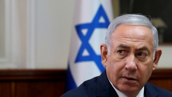 Israeli Prime Minister Benjamin Netanyahu attends the weekly cabinet meeting at the Prime Minister's office in Jerusalem September 5, 2018 - Sputnik Türkiye