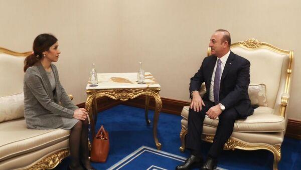 Dışişleri Bakanı Mevlüt Çavuşoğlu - Nobel Barış Ödülünü kazanan Nadia Murad - Sputnik Türkiye