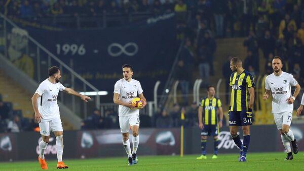 Spor Toto Süper Lig'in 16. haftasında Fenerbahçe 2-0 öne geçtiği maçta Büyükşehir Belediye Erzurumspor ile 2-2 berabere kaldı. - Sputnik Türkiye
