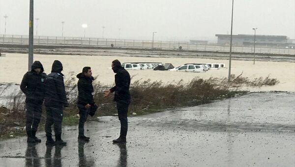 İstanbul Havalimanı, şiddetli yağış - Sputnik Türkiye