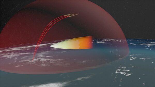 Изображение российского ракетного комплекса стратегического назначения с гиперзвуковым планирующим крылатым блоком - Sputnik Türkiye
