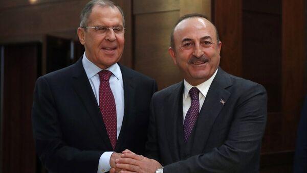 Rusya Dışişleri Bakanı Sergey Lavrov-Dışişleri Bakanı Mevlüt Çavuşoğlu - Sputnik Türkiye