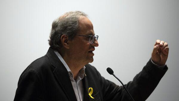 Quim Torra, presidente de la Generalitat de Cataluña - Sputnik Türkiye