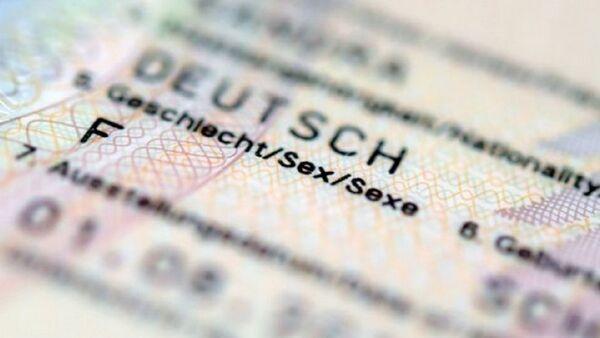 Almanya nüfus cüzdanı (cinsiyet bölümü) - Sputnik Türkiye