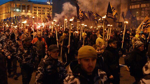 Ukrayna'da milliyetçilerin yürüyüşü - Sputnik Türkiye