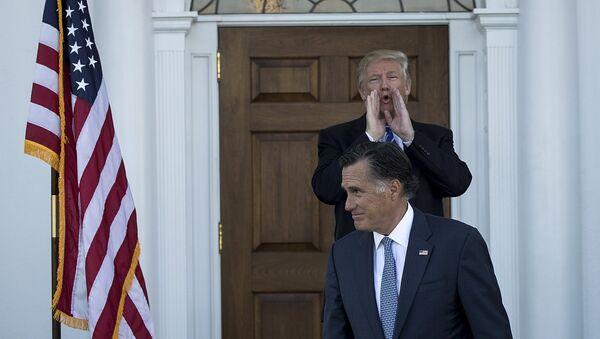 Beyaz Saray'da Trump-Romney görüşmesi - Sputnik Türkiye