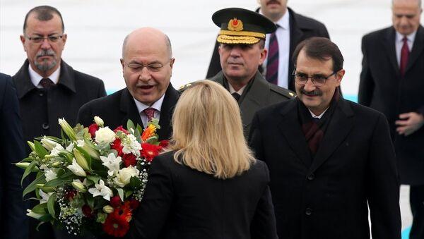 Irak Cumhurbaşkanı Berhem Salih Ankara'da - Sputnik Türkiye