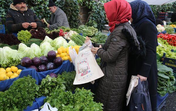 İstanbul Esnaf Odaları Birliği, bez çanta dağıttı - Sputnik Türkiye