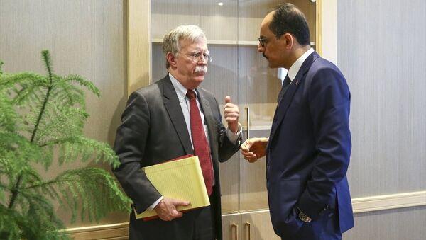 Cumhurbaşkanlığı Sözcüsü İbrahim Kalın ve Beyaz Saray Ulusal Güvenlik Danışmanı John Bolton - Sputnik Türkiye