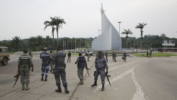 Forces loyal to Gabon's President Bongo on the streets of the capital Libreville after the failed coup on January 7, 2019 - Sputnik Türkiye