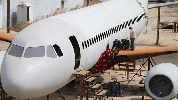 Çocukluk hayalini gerçeğe dönüştürdü: Birebir ölçülerde bir A 320 tipi uçak inşa etti - Sputnik Türkiye