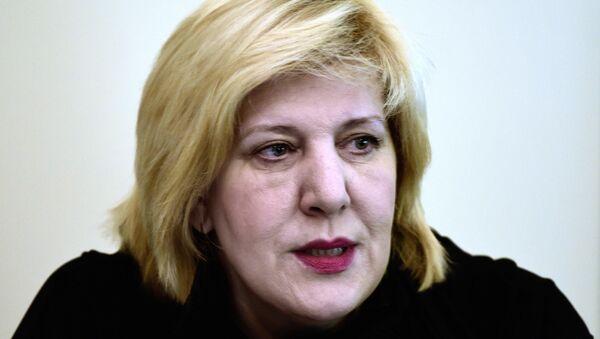 Avrupa Birliği Komisyonu'nın insan haklarından sorumlu üyesi Dunja Mijatovic - Sputnik Türkiye
