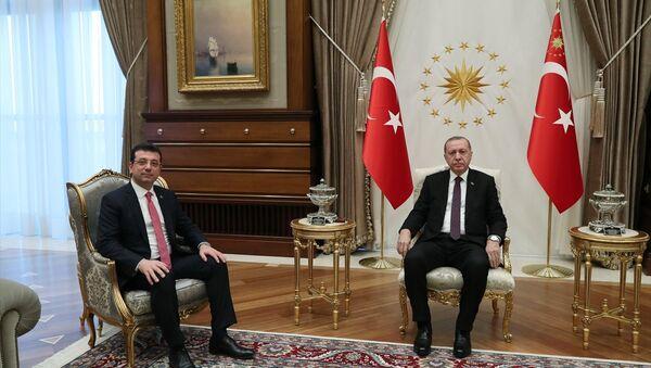Erdoğan ile görüşen İmamoğlu: 'Oyunuza talibim' dedim, gülümsedi - Sputnik Türkiye