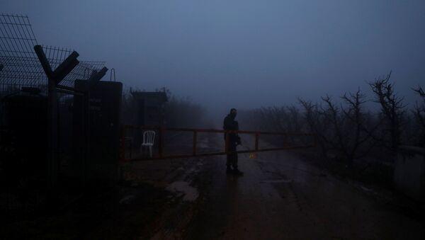 Lübnan - İsrail sınırı İsrail askeri - Sputnik Türkiye