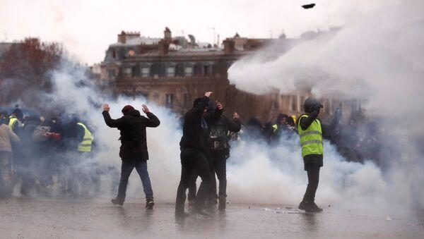 Sarı Yelekler Paris protestoları 9.hafta - Sputnik Türkiye