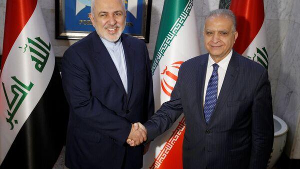 İran Dışişleri Bakanı Cevad Zarif ve Irak Dışişleri Bakanı Muhammed Ali Elhakim - Sputnik Türkiye
