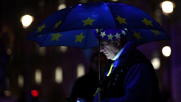 Brexit karşıtları Londra'da oylama sonuçlarını kutluyor. - Sputnik Türkiye