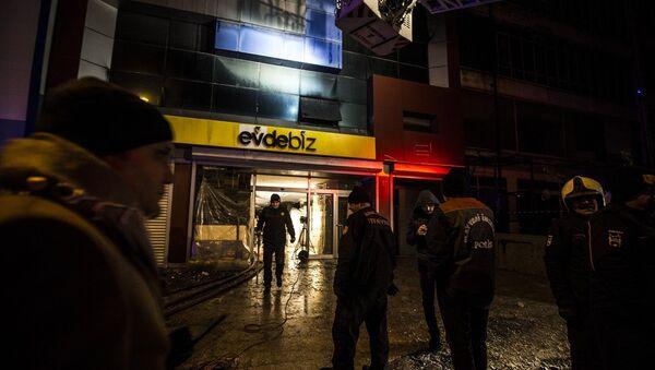 Ankara Siteler'de yangın: 'Suriye uyruklu 5 işçi hayatını kaybetti' - Sputnik Türkiye