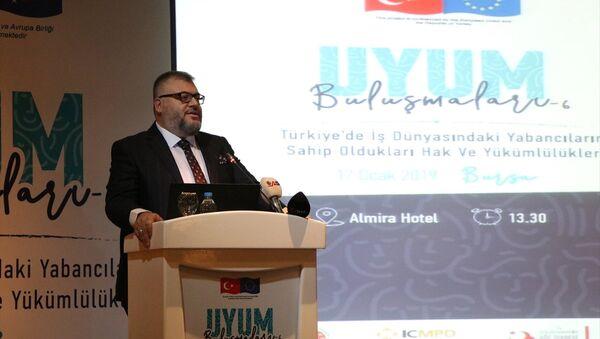 Göç İdaresi Genel Müdürlüğü Uyum İletişim Dairesi Başkanı Aydın Keskin Kadıoğlu, Bursa'da Suriyeliler tarafından bugüne kadar 400'ü aşkın fabrika kurulduğunu bildirdi. - Sputnik Türkiye