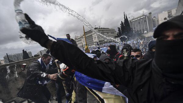 Yunanistan'daki gösteriler - Sputnik Türkiye