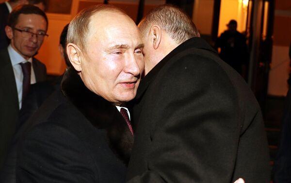Cumhurbaşkanı Recep Tayyip Erdoğan-Rusya Devlet Başkanı Vladimir Putin - Sputnik Türkiye