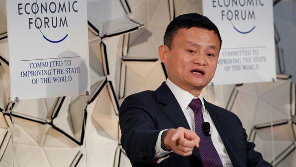 Jack Ma 2019 Davos Dünya Ekonomik Forumu'nda (WEF) - Sputnik Türkiye