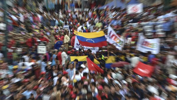 Nicolas Maduro destekçileri - Sputnik Türkiye