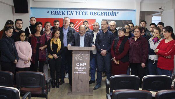 CHP - İzmir Menemen İlçe Teşkilatı istifa etti - Sputnik Türkiye