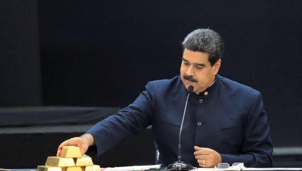 Nicolas Maduro ile Venezüella altınları - Sputnik Türkiye