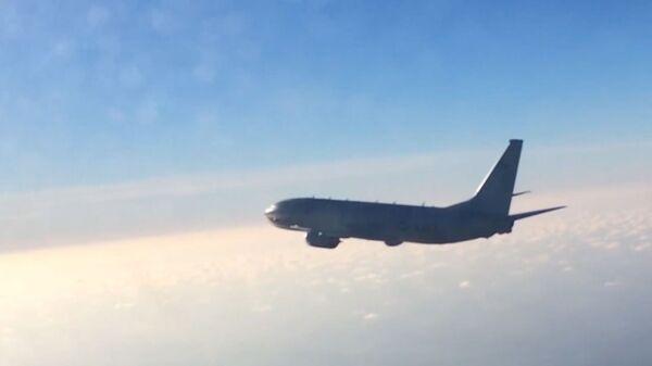 Rus Su-27 avcı uçağından ABD'nin Poseidon P-8A denizaltısavar uçağına önleme - Sputnik Türkiye