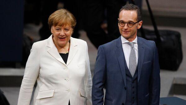Angela Merkel ile Heiko Maas - Sputnik Türkiye