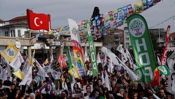 HDP, seçmen, miting - Sputnik Türkiye