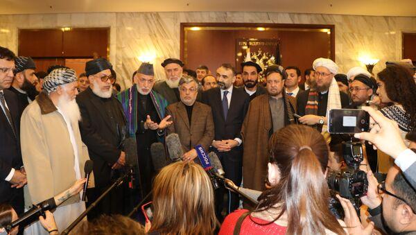 Afgan siyasetçiler ile Taliban temsilcileri arasında Moskova'da yapılan toplantı - Sputnik Türkiye