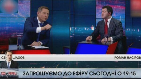 Canlı yayında Ukrayna başkan adayının yüzüne su fırlattı - Sputnik Türkiye