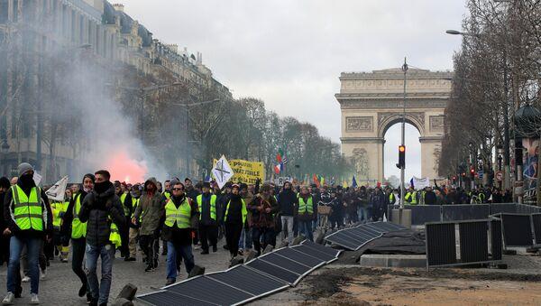 Fransa'da Sarı Yelekler 13. haftasında - Sputnik Türkiye