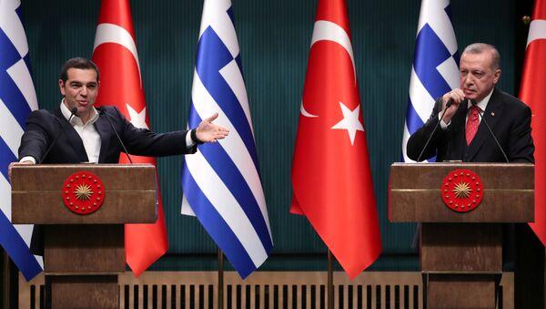 Aleksis Çipras- Recep Tayyip Erdoğan - Sputnik Türkiye