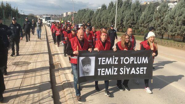 CHP, Ankara, yürüyüş - Sputnik Türkiye