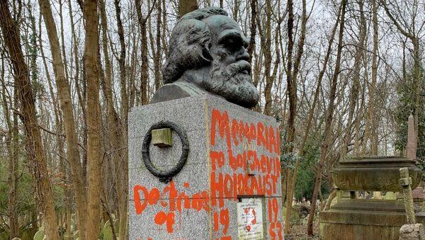 Karl Marx'ın mezarına ikinci saldırı - Sputnik Türkiye
