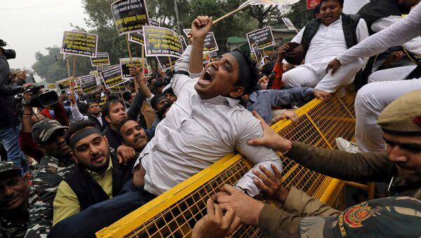 Keşmir saldırısı Hindistan'da protesto edildi - Sputnik Türkiye