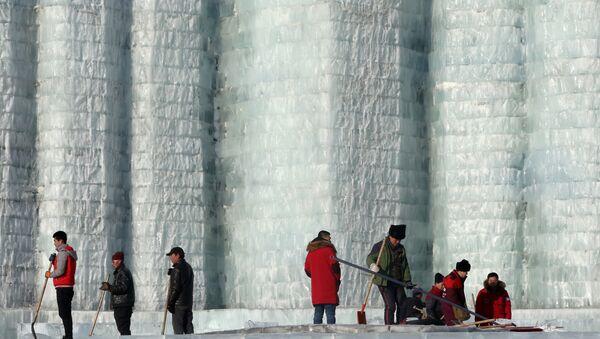 Çin'deki Harbin Buz ve Kar Heykel Festivali - Sputnik Türkiye